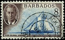 Stamp of Barbados – Inter Colonial Schooner